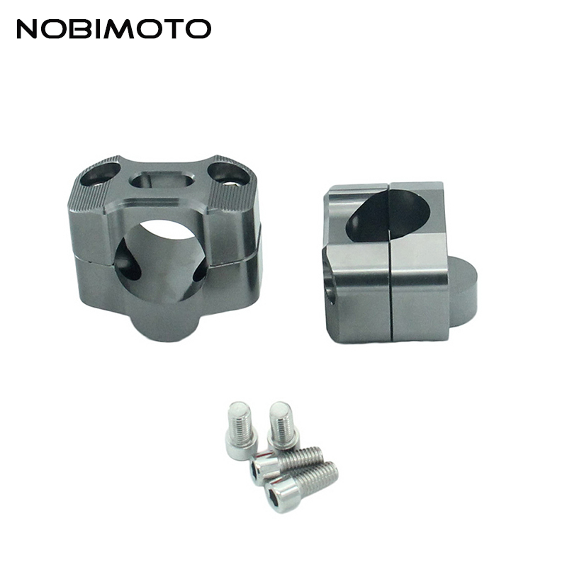 Off Road Motorcycle Bar Clamps Handle Riser High Quality Raised Handlebar Fit For 28 MM 1-1/8 Fat Bar Pit Dirt Motorbike CNC-195