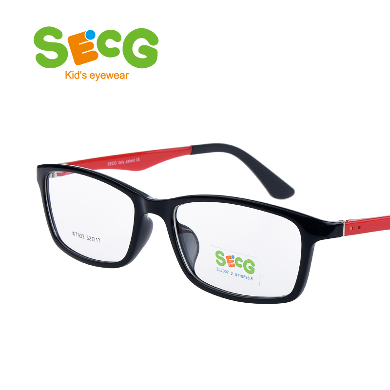 SECG Kid Frame Child Flexible Safe Soft Comfortable Optic Frame for Myopia Anti Blue Light Eyes Protection Prescription Glasses