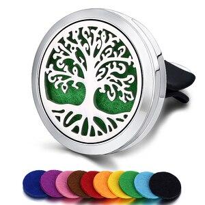 Image 4 - Ambientador de aire para coche, difusor de perfume, pinza de ventilación automática, aceite esencial, medallón (10 recambios gratis), c001