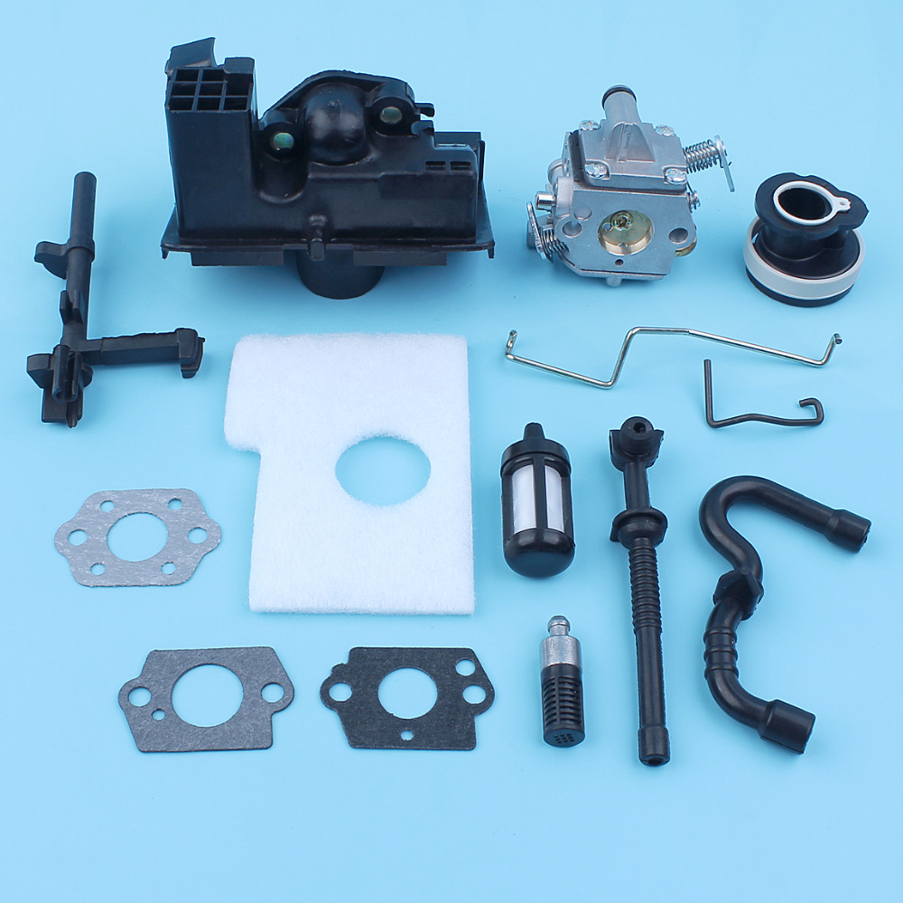 Carburetor Air Filter Housing Kit For Stihl 018 MS180 MS170 017 Chainsaw Fuel Oil Line Filter Carb Gasket Throttle Choke Rod Saw