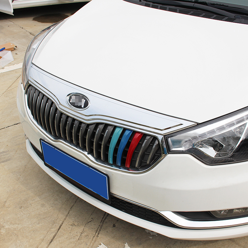 car chromium styling special front trim grille Sticker Strip decoration bright mirror electroplating modification FOR Kia K3 2015 hyundai tucson abs electroplating taillight frame decorative trim trim car styling