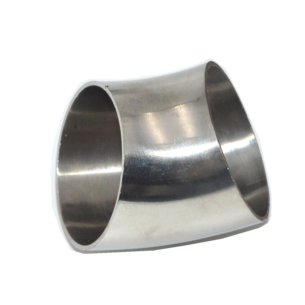 19mm - 51mm OD 304 Stainless Steel Sanitary Weld 45 Degree Elbow Pipe Fitting Homebrew