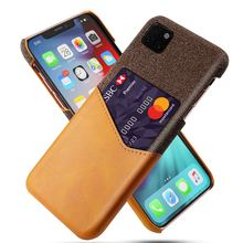 for iPhone XI Max Case 6.5inch Slim PU Leather Splicing Soft Fabric Protective Cover for iPhone XS Max XIR XI Max Card Case 2019 stylish protective pu leather case for htc one max t6 orange