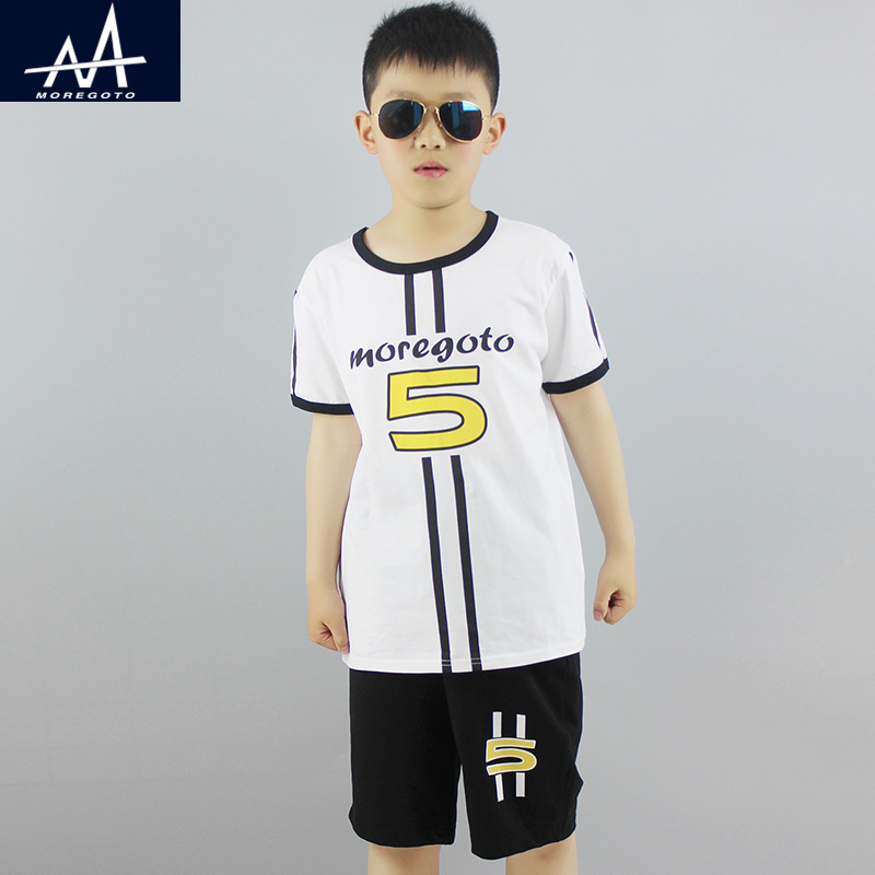 Summer New Cotton Casual Clothing Sets Boys 9-12Y Boy 2Pcs Clothes Set T shirt+Shorts Child Clothing Set Children's Jogging Sets