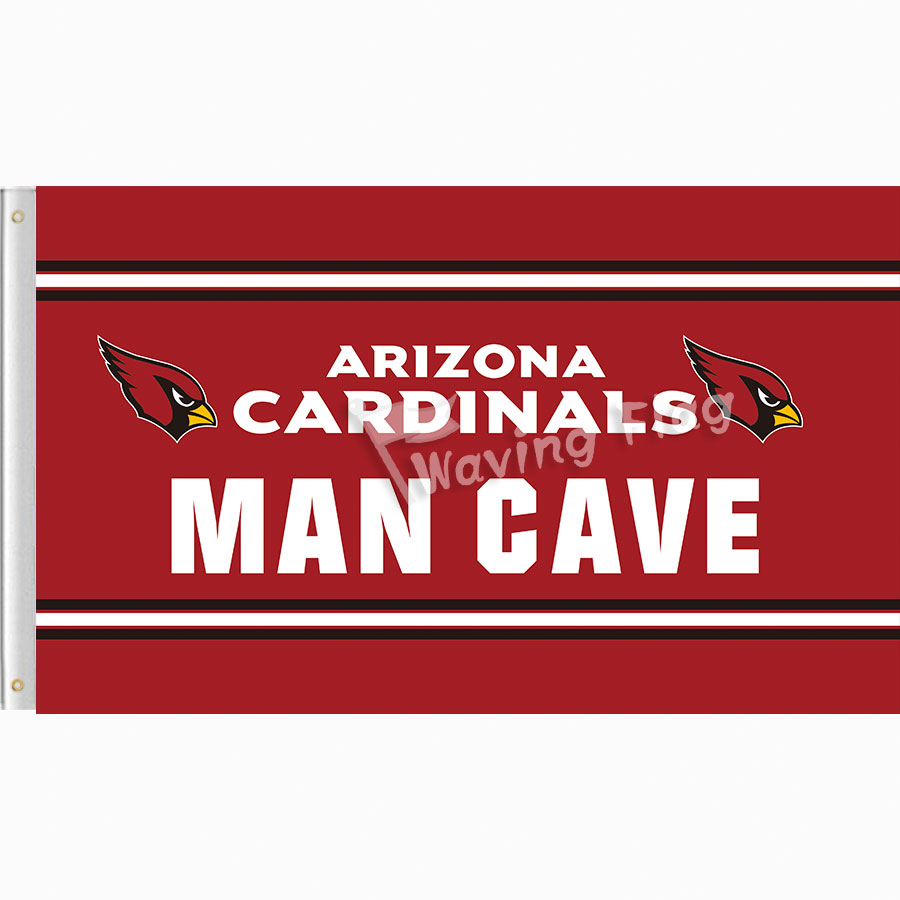 Arizona Cardinals MAN CAVE Outdoor Flag Outdoor 3x5ft Banner 100D Polyester custom Flag