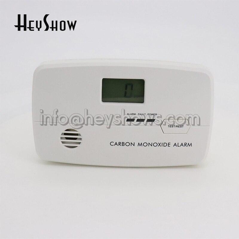 Güvenlik ve Koruma'ten Karbon Monoksit Dedektörleri'de Yeni Duvara monte CO Karbon monoksit alarmı Dedektörü LCD Dijital Ev Güvenlik Için Bağımsız Sensör Güvenliği title=