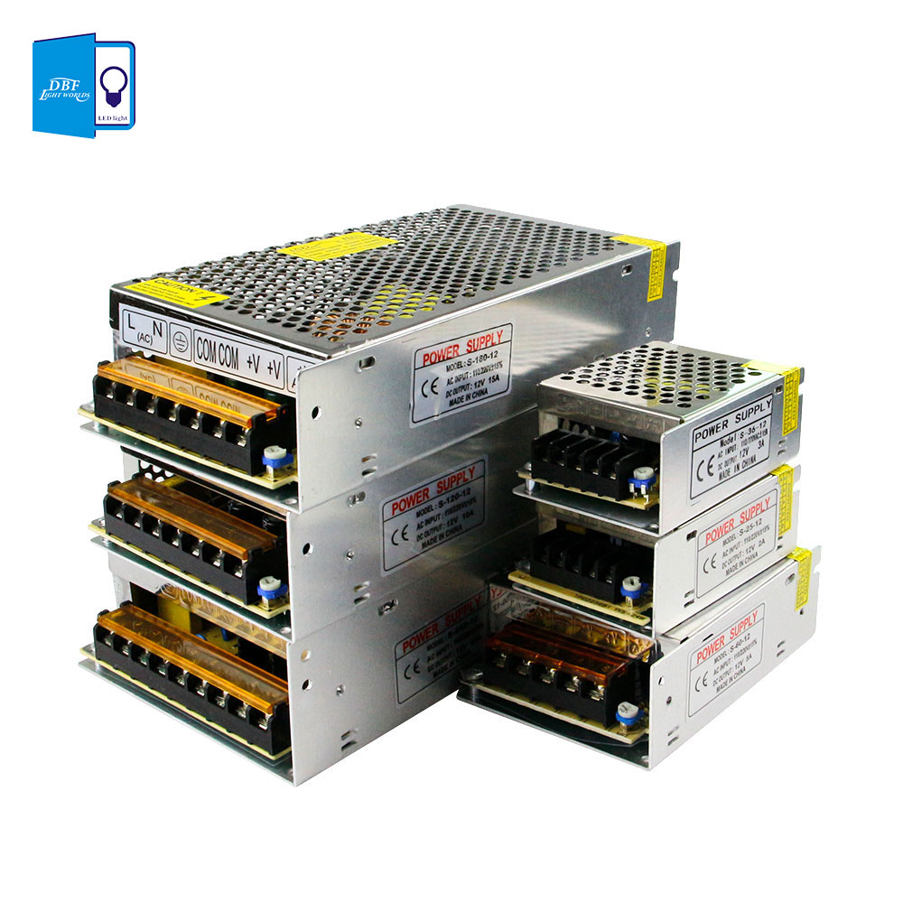 [DBF]12V 10A/15A/20A/30A DC Universal Regulated Switching Power Supply 360W for CCTV, Radio, Computer Project , LED Strip Lights