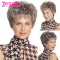 Short Wavy Pixie Cut Wigs For Black Women Heat Resistant Synthetic Wigs Female Wig Short Gray Wigs Lolita African American Hair