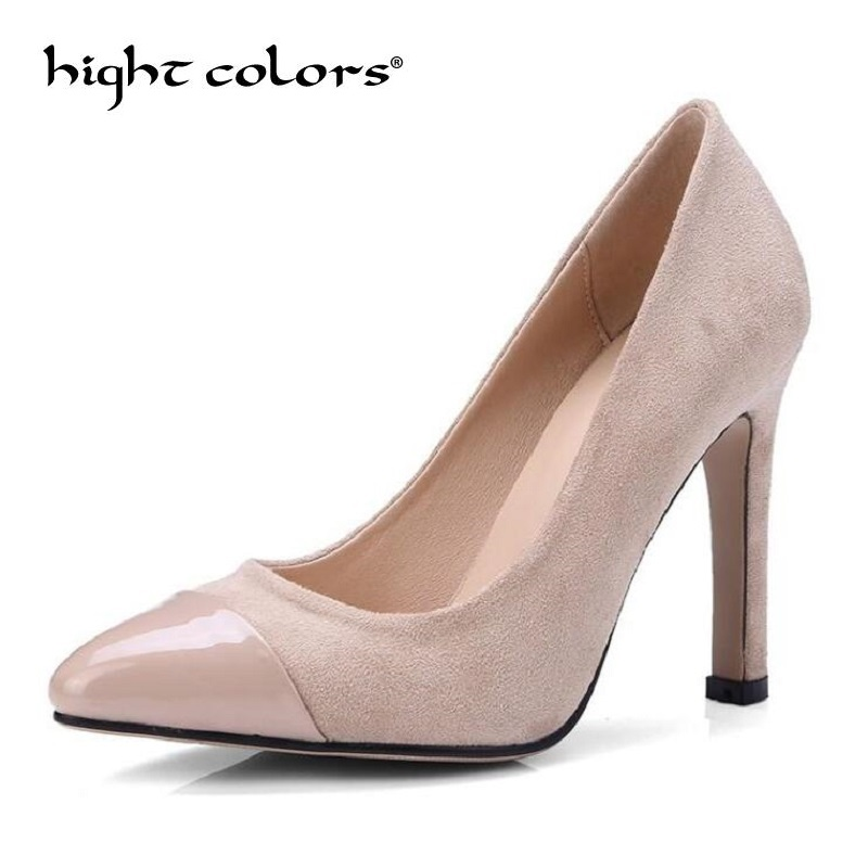 Women Pumps 2018 Sexy High Heels Pointed Toe Party Shoes Woman Wedding Office Ladies Pumps Red Gray Black Zapato Mujer new women patent leather high heels shoes wine red gray sexy pointed toe shoe for wedding party office career pumps smybk 020