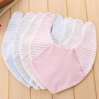 Baby Bibs Bandana Triangle Pure Cotton Babadores Para Bebe Infant Saliva Towel For Boys And Girls