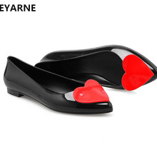 1caeaeb6f77514 BEYARNE woman jelly shoes pointed toe lady flat rain sandals women student  summer beach sandal candy