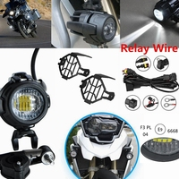 Motorcycle E9 Mark LED Fog Light & Protect Guards with Relay Wiring Harness For BMW R1200 GS /ADV F800GS Motorcycle Led Lights