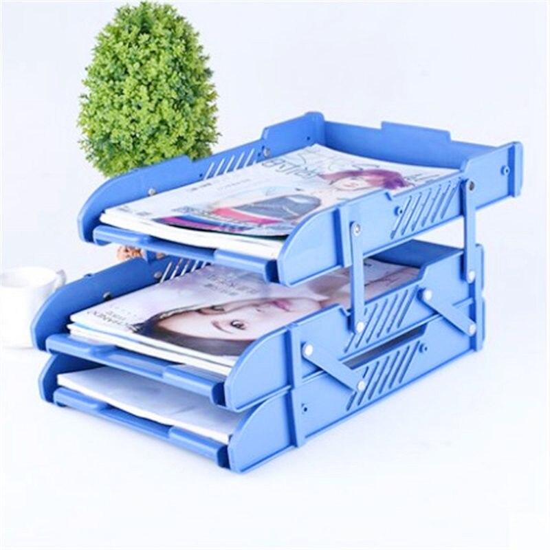 3 слоя перемещение документный файл держатели лотков письменный прибор книжные держатели Органайзер A4 офисные школьные принадлежности, блокноты стола, аксессуары для рабочего стола