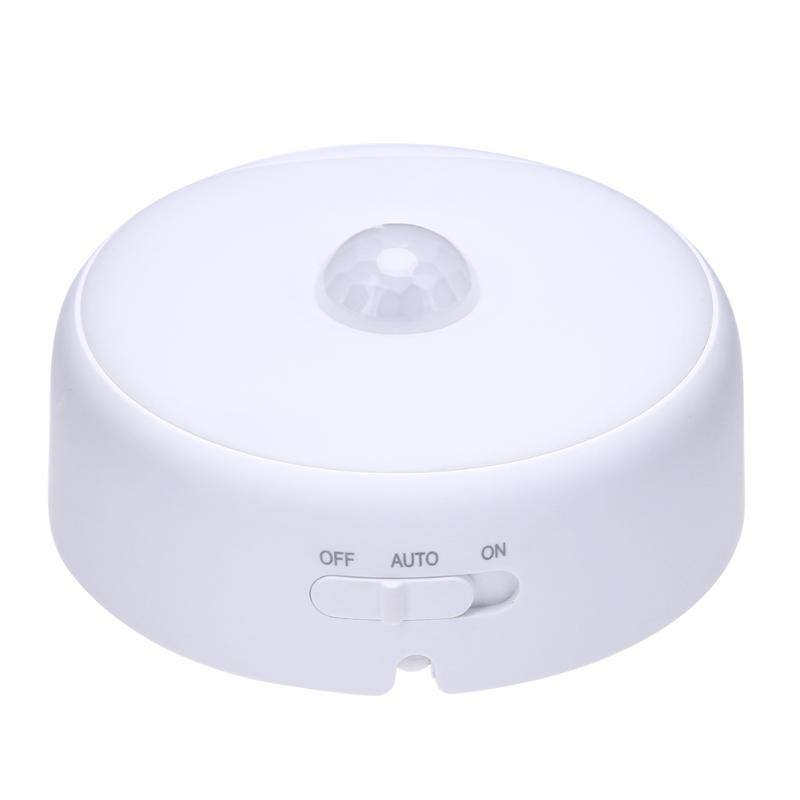 LED PIR Body Automatic Motion Sensor Wall Light Sensor Night Light USB Rechargeable Induction Lamp For Closet Bedrooms