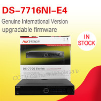 In stock original English version DS 7716NI E4 CCTV NVR 16ch 4 SATA support 4HDD supporting alarm, no POE NVR KIT