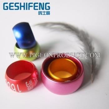 Wholesale 8 , 10 mm Bird Dove Pigeon lantern Circular aluminum Leg closed Strong Rings Custom aluminum Lettering Rings