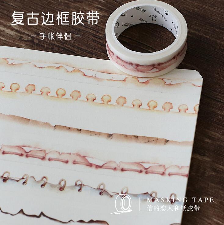 Creative Functional Paper Edge Washi Tape Adhesive Tape DIY Scrapbooking Sticker Label Masking Tape