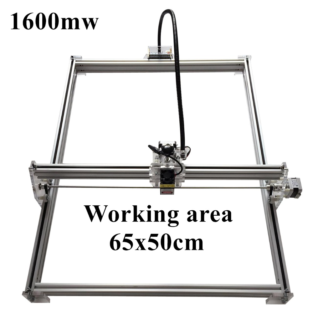 1600mW Mini desktop DIY Laser engraving engraver cutting machine Laser Etcher CNC print image of 50 X 65 cm Laser Engraver