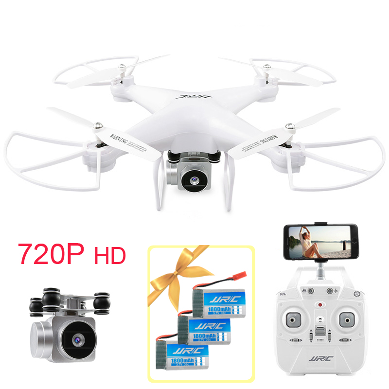 3 Battery 1Hour RC Drone With 720P HD Camera 6-Axis Gyro WIFI FPV Quadcopter Selfie Remote Control Dron Helicopter Gifts dron quadcopter with camera fpv rc helicopter aititude hold 2 4g wifi 6 axis gyro 2mp hd fpv quadcopter drone with camera hd