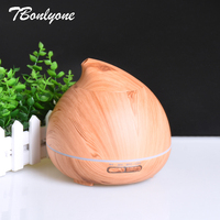 TBonlyone 400ML Aroma Lamp Diffuser Electric Ultrasonic Air Humidifier Home Wood Grain Aromatherapy Essential Oil Aroma