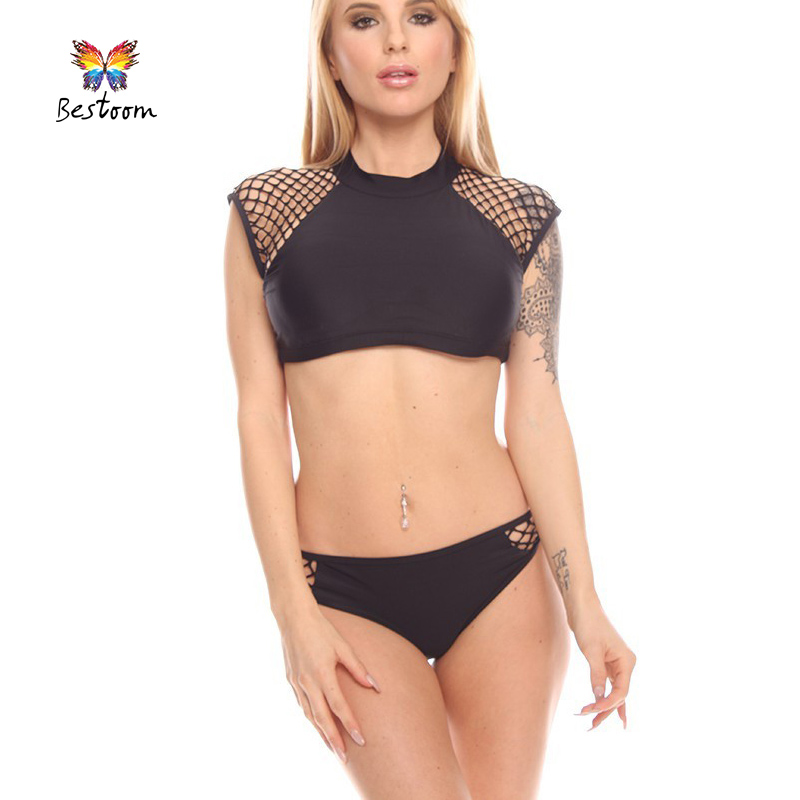 Black Crochet Bathing Suit