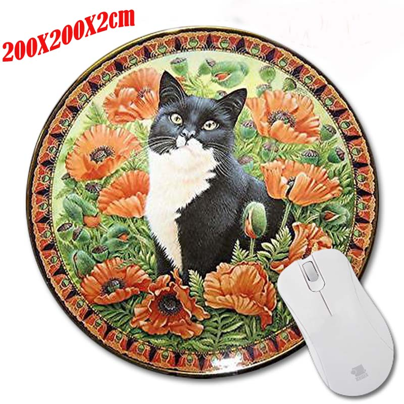 Persian Cat On The Persian Carpet Custom Made Computer Notebook Round Mouse  Mat High Quality Rubber Durable Mouse Pad In Mouse Pads From Computer U0026  Office ...