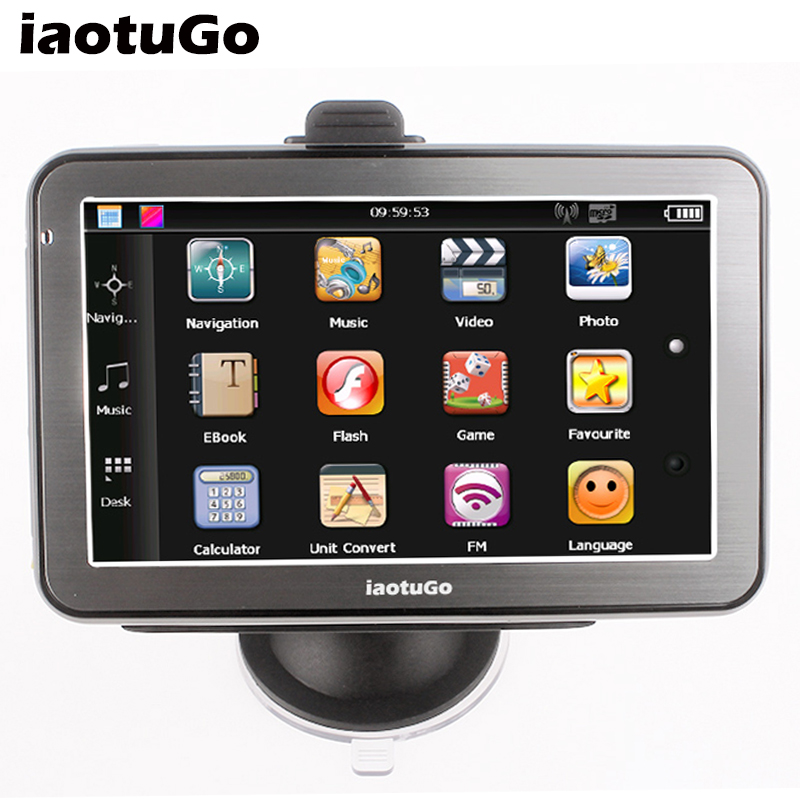 GPS Navigation Bluetooth Wince 6.0 5inch Support MTK 4G 128M Hands-Free