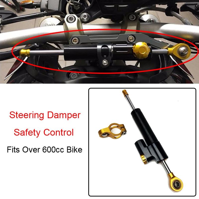 Duokon Aluminum Steering Damper Stabilizer Long Type Motorcycle Adjustable Steering Damper Linear Reversed Safety Control for Yamaha MT10 MT 07 MT09