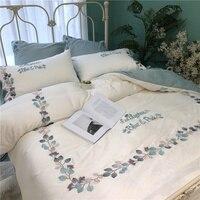 Шелковая вышивка высокого качества летняя домашняя текстильная печать 4 шт постельных принадлежностей для взрослых Креативный дизайн Дань