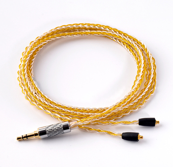 OKCSC 8 Core MMCX Cable 7N Gold Silver Mixed Upgrade Cable Cord for Shure SE846, SE535, SE315, SE215, UE9002