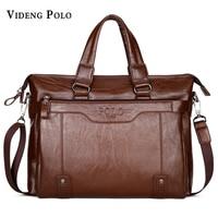VIDENG POLO New Brand Men S Bag Leather High Quality Handbag Business Briefcase Laptop Crossbody Shoulder