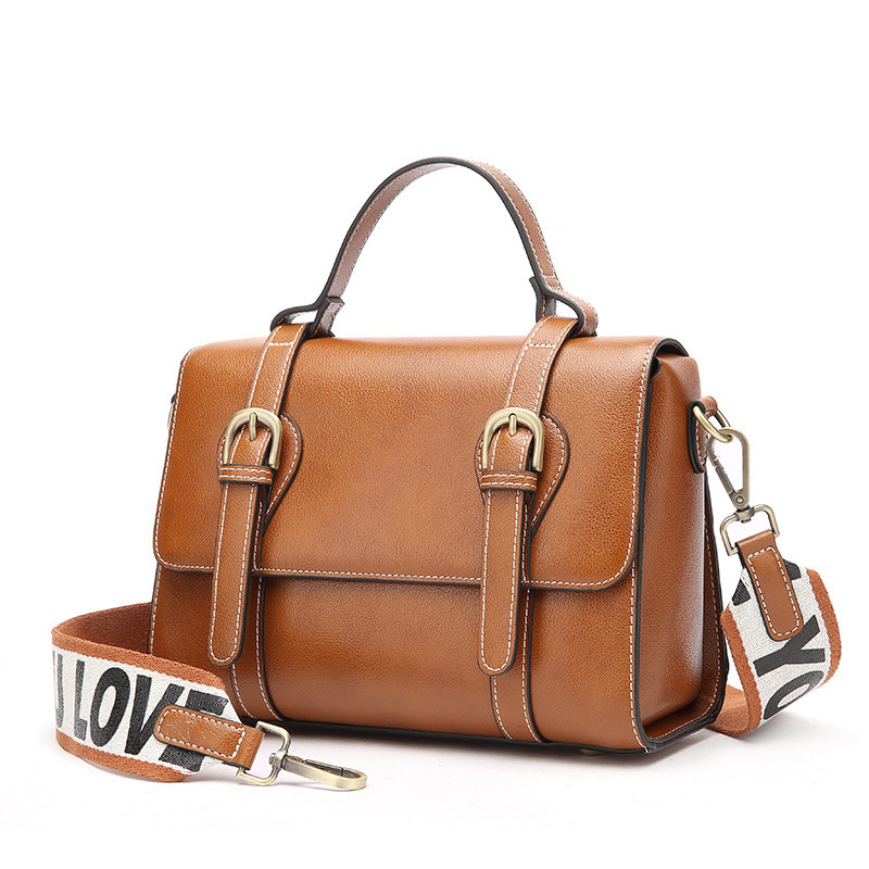 1804 New Fashion Women Handbag Vintage Leather Messanger Bag Satchel Top layer Cowhide Leather Shoulder Bag ...