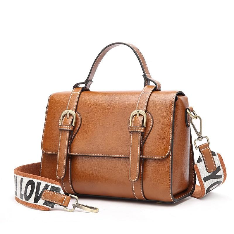 1804 New Fashion Women Handbag Vintage Leather Messanger Bag Satchel Top layer Cowhide Leather Shoulder Bag ...