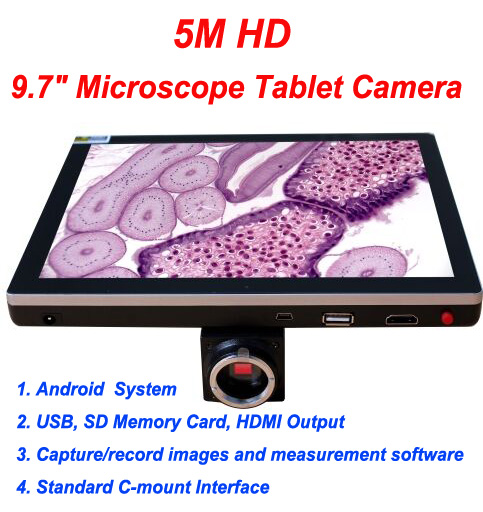 Free shipping,9.7 Pad Digital Camera for optical microscope free shipping 600x 4 3 lcd display microscope zoom portable led video microscope with aluminum stand for pcb phone repair bga