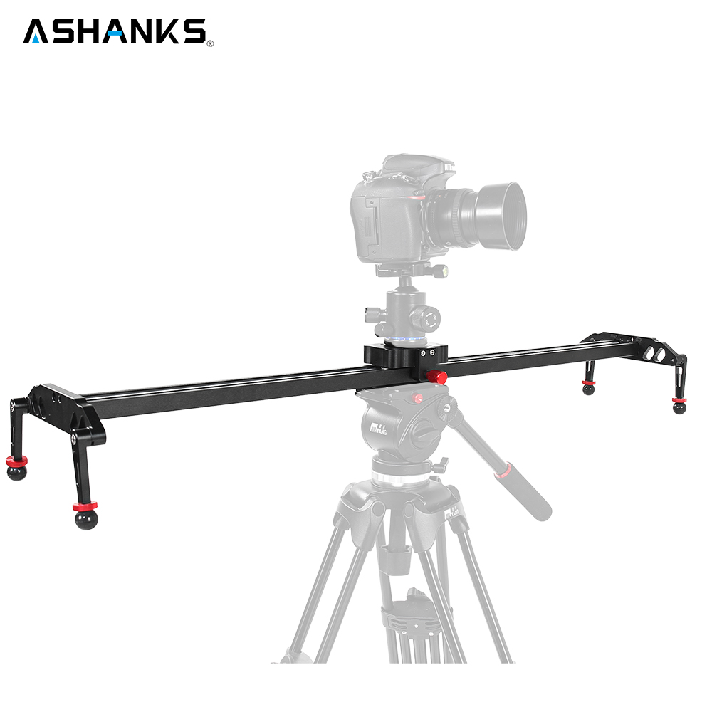 ASHANKS Ball-bearing Camera Slider Aluminum Alloy Damping Slider Track Video Stabilizer Rail Track Slider For DSLR or Camcorder professional 7005 aluminum alloy tube clap long track ice blade 64hrc high quality dislocation skate shoes knife 1 1mm frame