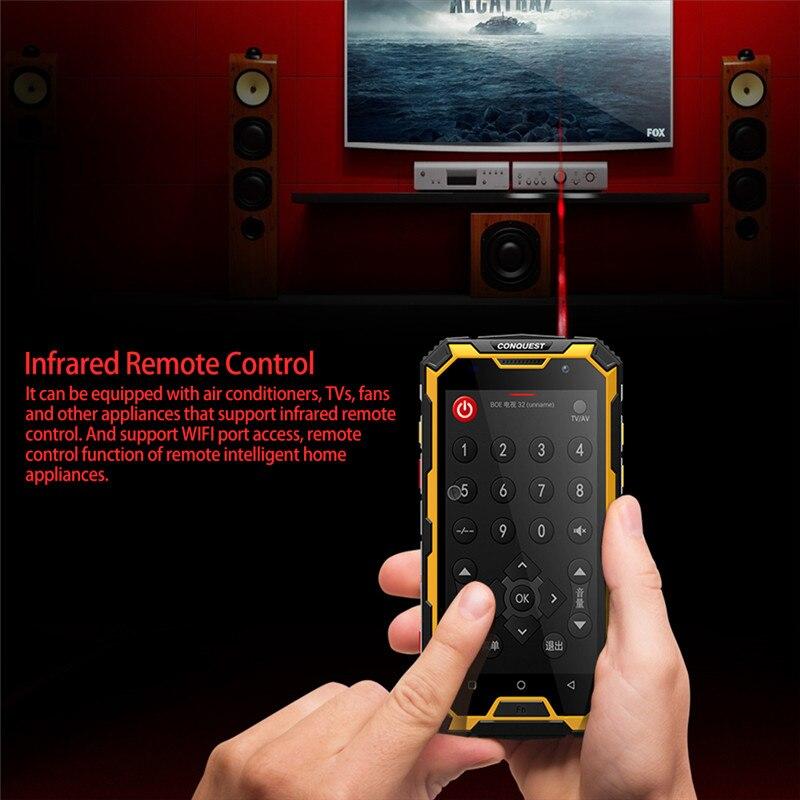 CONQUEST S8 IP68 прочный смартфон 4 Гб 64 ГБ Android 7,0 Восьмиядерный водонепроницаемый мобильный телефон NFC/IR/SOS/OTG/FM/Walkie talkie - 3