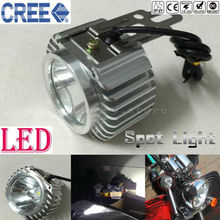 Super Bright Chrome Motorcycle LED Headlight Driving Fog Spot Work Headlamp Spotlight Head Night Light font