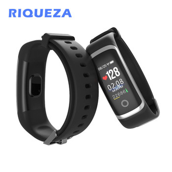 RIQUEZA M4 Smart Bracelet Sleep Monitor Fitness Tracker Call Reminder Real-time Heart Rate Monitor Women Smart Wristband Gifts