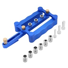 6/8/10mm Self Centering Doweling Jig Wood Drill Holes Kit Woodworking Hand Tools.