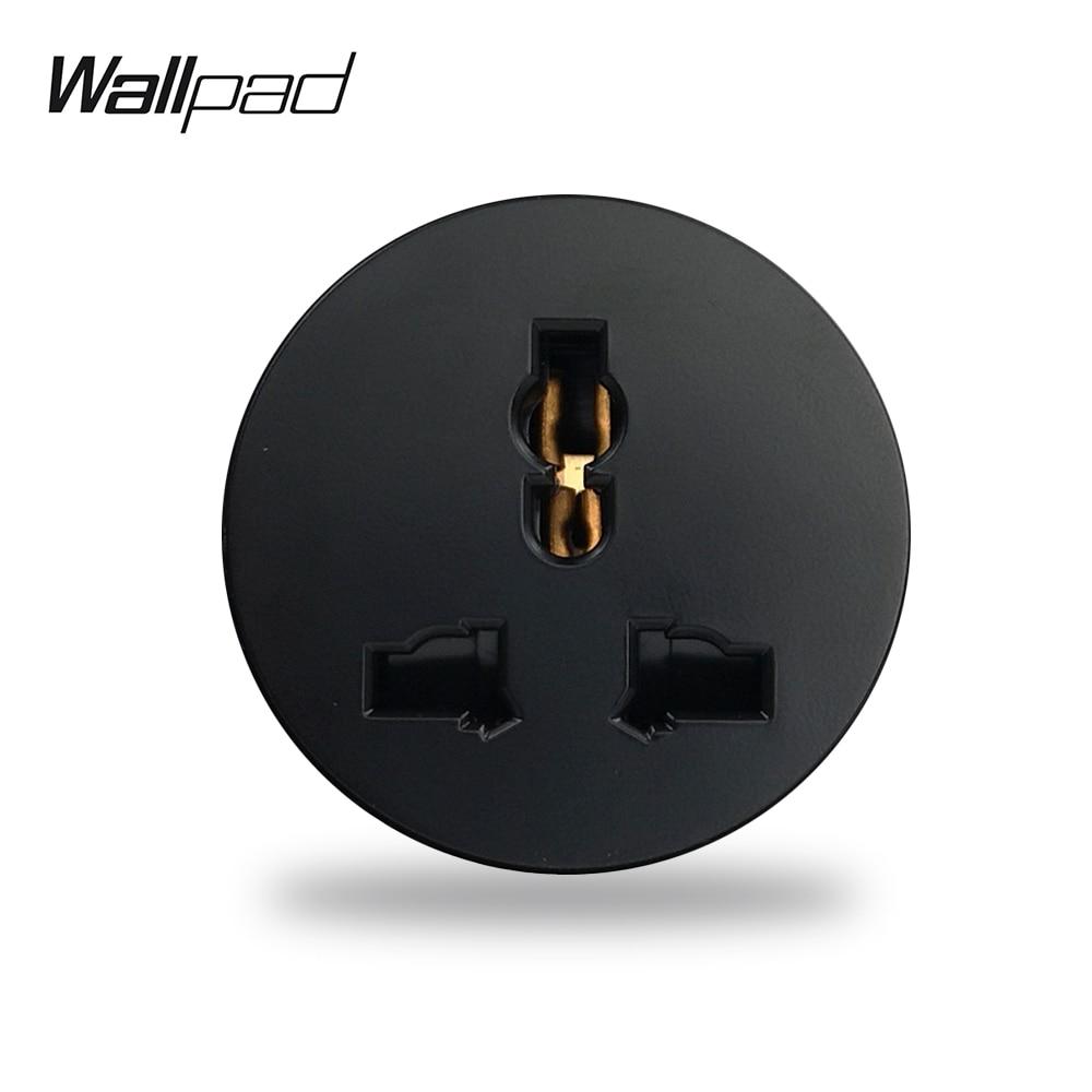 Wallpad L6 EU UK US Universal Wall Electrical Power Socket Black White Grey Gold Modular DIY Free Combination