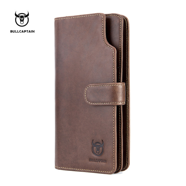 New Luxury Brand 100% Top Genuine Cowhide Leather High Quality Men Long Wallet Coin Purse Vintage Designer Male Carteira Wallets стоимость