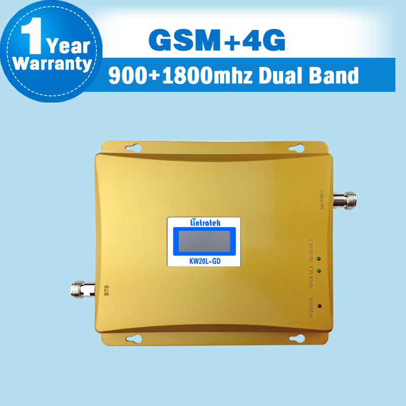 Image 2 - GSM 900 4G LTE 1800 (FDD Band 3) Dual Band Repeater LCD Display 65dB Gain GSM 900 DCS 1800mhz Cellular Mobile Signal Booster S48-in Signal Boosters from Cellphones & Telecommunications
