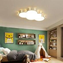 ثريا حديثة من Cloud لغرفة الأطفال غرفة نوم الأطفال plafon 110 فولت 220 فولت ثريا بمصابيح led للسقف الساخن تركيبات lambadario led