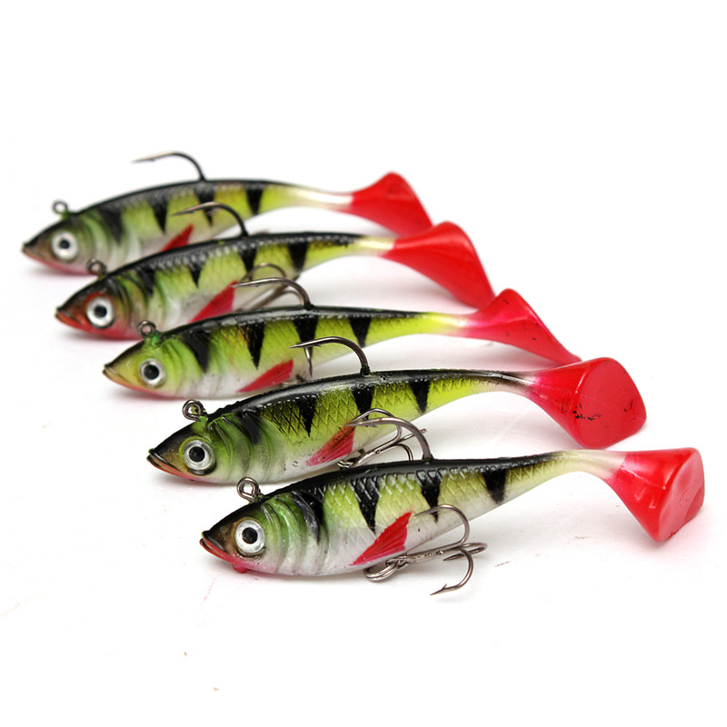 Hot 5pcs lot 11g fishing lures sea fishing tackle soft for Ocean fishing lures