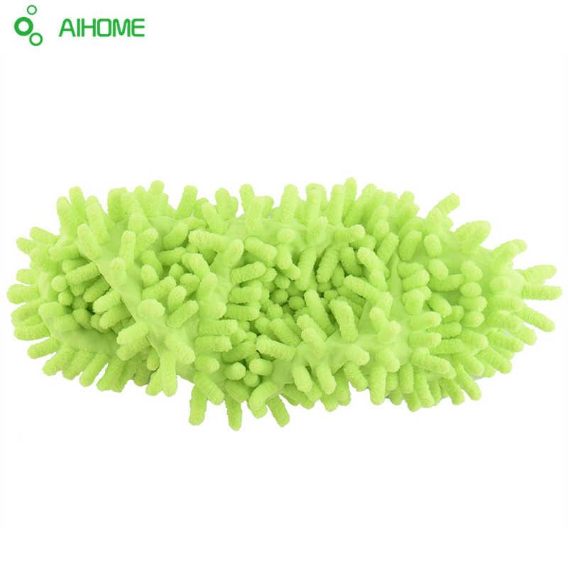 1 pieza de chenilla multifuncional cubre zapatillas limpias zapatos de arrastre perezosos mopa gorras de microfibra