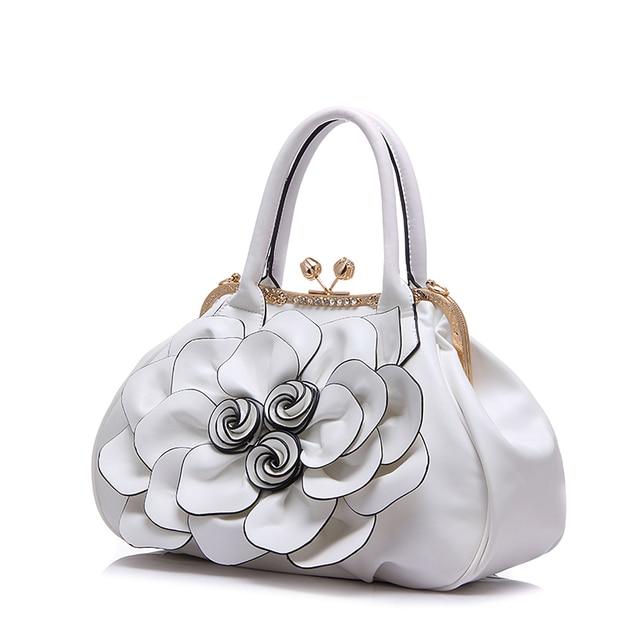 2017 fashion Brand Design Women Casual Floral Handbags High Quality PU Leather Bags Shoulder Bag Handbags