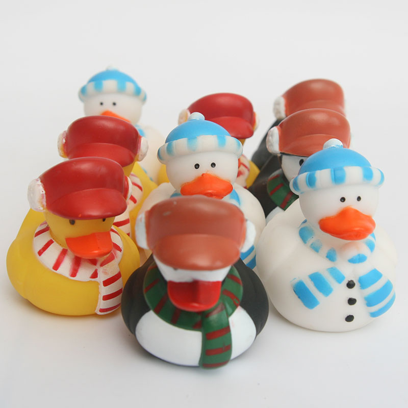 9pcs plastic congnitive floating toyMany snowmen and rubber ducks baby bath toys making the bath time mare interesting