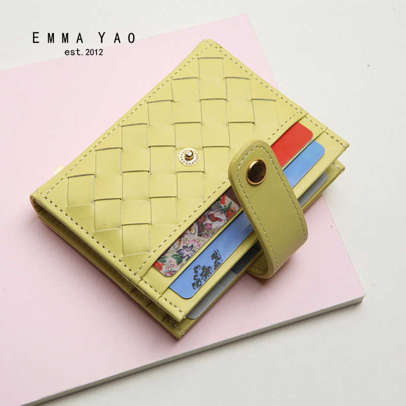 EMMA YAO Genuine Leather Wallet Female Famous Brand Wallet Case Fashion Purse