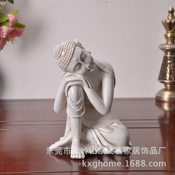 Southeast Asian Rice White Buddha Furnishing Articles Resin Handicraft Sleeping Buddha Place Adorn Furnishing Articles