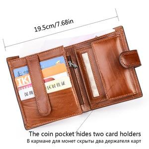 Image 2 - Włoski bydła dekolt prawdziwe prawdziwej SKÓRZANY PORTFEL mężczyźni paszport posiadacz karty kredytowej portmonetki portemonnee Portefeuille Carteras